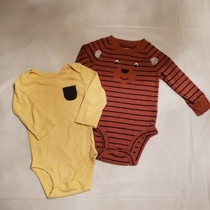Boys long sleeve onsies